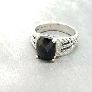 David Yurman Petite Wheaton Black Onyx Ring